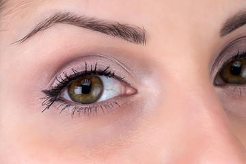 Photo of brunette woman's eye