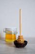 Fresh natural honey in a jar