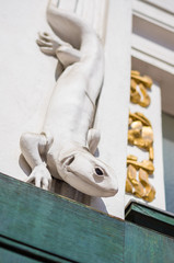 Detail of the Secession Museum in Vienna, Austria