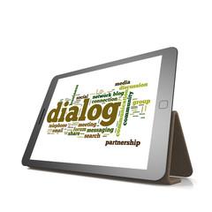Dialog word cloud on tablet