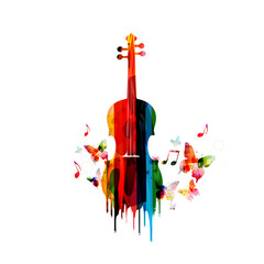 Violin colorful design