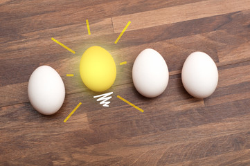 Idea- Glowing Egg Bulb