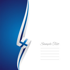 Finland left side brochure cover vector