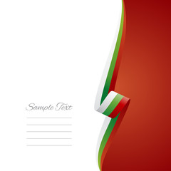 Bulgaria right side brochure cover vector