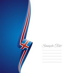 Iceland left side brochure cover vector