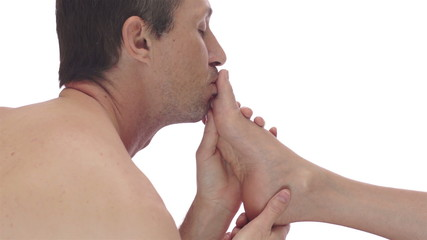 Man Foot Fetish Kissing Toes