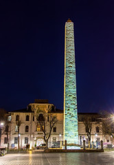 Walled Obelisk (Constantine Obelisk) in Istanbul - Turkey