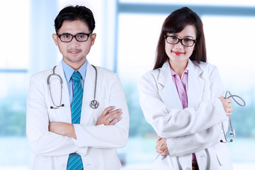 Two asian medical doctors