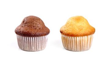 Chocolate and cream muffins
