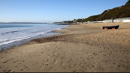Bournemouth England UK near Poole tourist beach