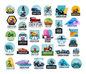 car vector logo design template. transport or vehicle icon.