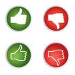 Icons Daumen rauf runter rot grün