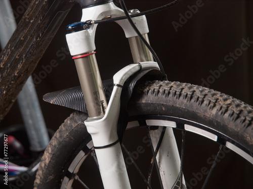 Mountain bike suspension detail - 77297677