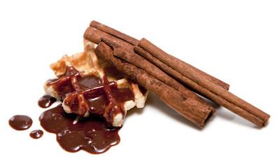 cannelle et gaufre chocolat