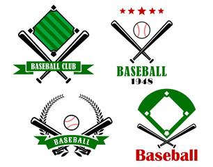 Baseball sporting emblems or badges