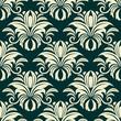 Gothic floral beige pattern