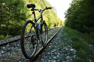 Bicycle on railway tracks