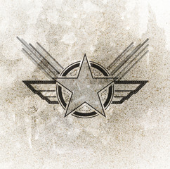 air force military symbol on grunge background