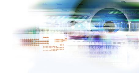digital technology background illustration
