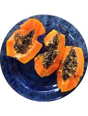 Papaya with seeds / Mamao com sementes