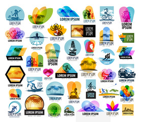 travel vector logo design template. vacation or relaxation