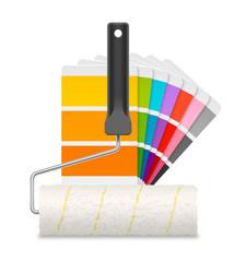 Nuancier et rouleau à peinture vectoriels 1