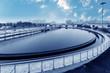 Leinwandbild Motiv Modern urban wastewater treatment plant.