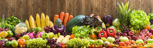 Fotobehang Vruchten Fruits and vegetables organics