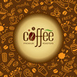 Coffee and tea background for packing.