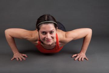 woman doing a pushup