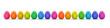 Leinwanddruck Bild - Bunte Ostereier in Farben vom Regenbogen