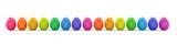 Bunte Ostereier in Farben vom Regenbogen