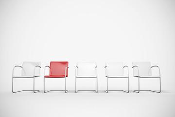 Stühle in einem Wartezimmer