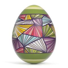 Buntes Ei zu Ostern als Osterei