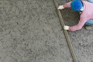 plasterer concrete cement worker plastering flooring