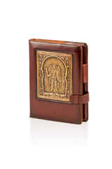 Small brown notebook