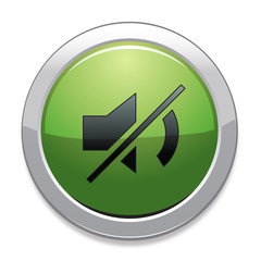Mute Sign Icon / Green Button