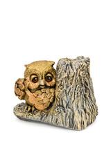 Owl figurine with a guitar