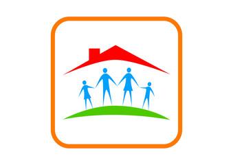 Family icon on white background
