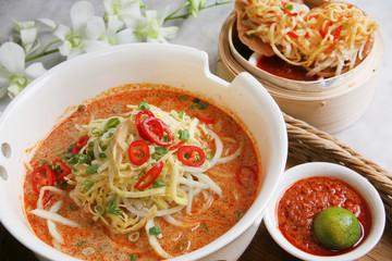 マレーシアの麺 ラクサ Southeast Asian noodles dish Laksa