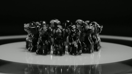 Snowflake obsidian dogs rotate