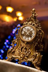 antique gold clock