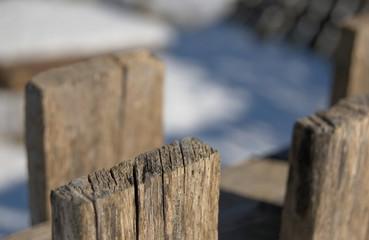 staccionata e neve