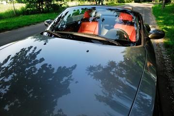 automoble, car, cabrio, grey, lifestyle, weekend, waiting,