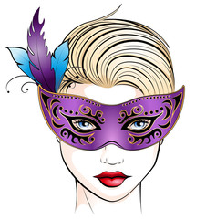 Maskierte Frau