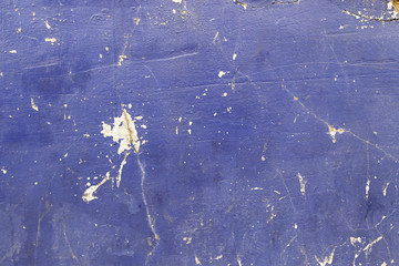 Cement wall painted blue