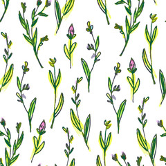 watercolor drawing seamless floral pattern