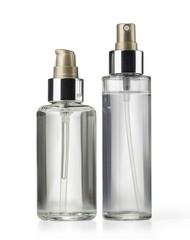 two cosmetics bottle