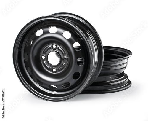 Leinwandbild Motiv Steel wheel rim
