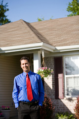Home: Smiling Real Estate Agent